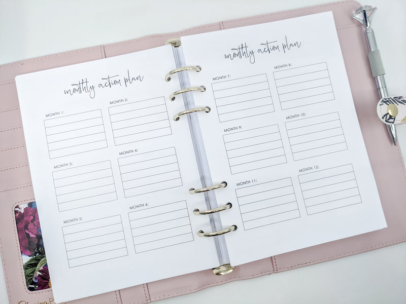 A5 Vision Board Planner Inserts
