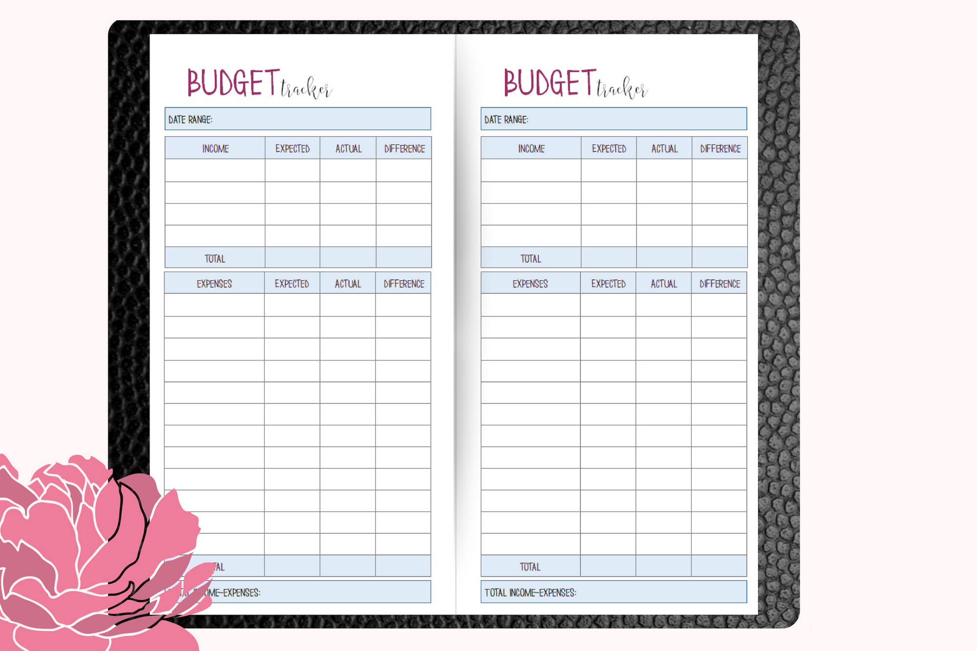 'Budget Planner Booklet' for Travellers Notebooks - Standard Size