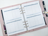 A5 Food Diary planner inserts