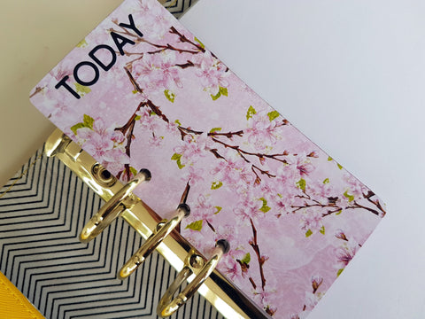"Cherry Blossom ""TODAY"" page marker for planners"