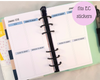 Personal Size - Colourful Weekly Planner Refill {Erin Condren Size Boxes}