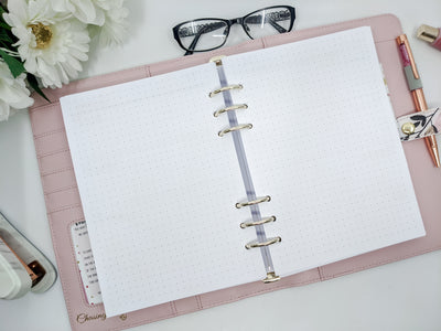 A5 Horizontal Layout Weekly Planner Inserts - Simple Style | Lined or Unlined