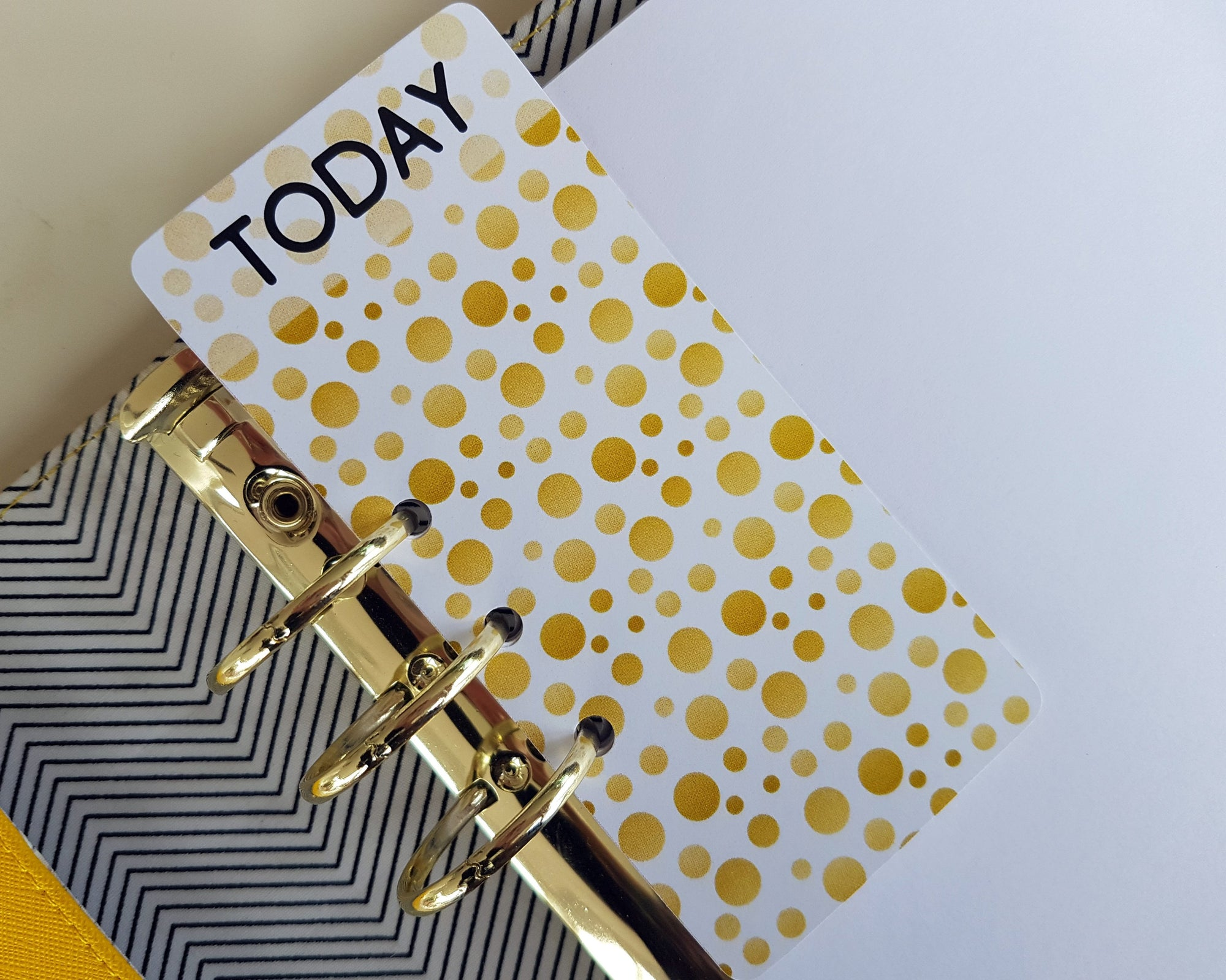 """TODAY"" Page Marker - Gold Dot"