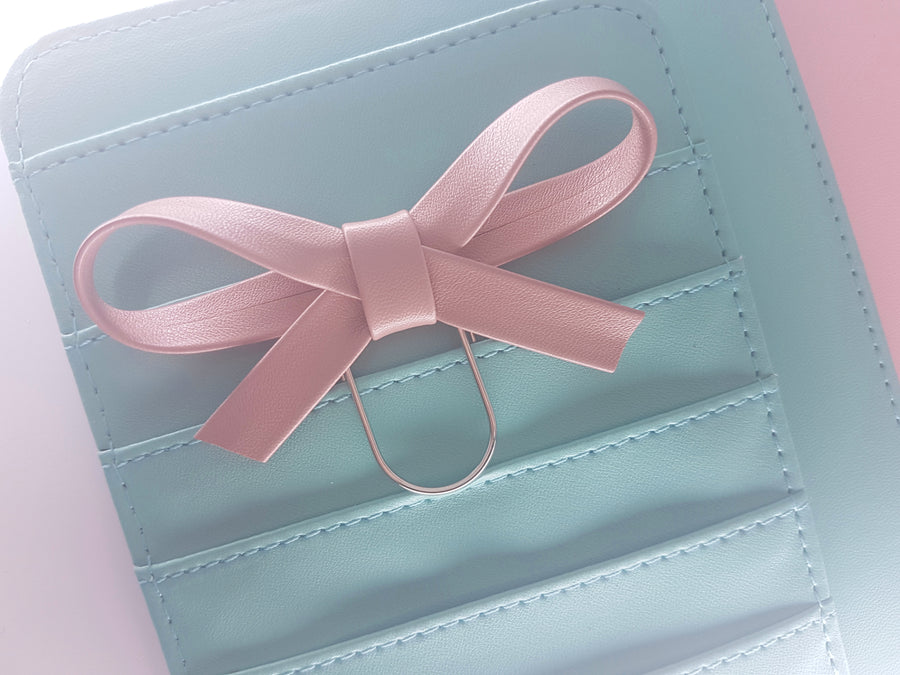 Dusty Rose Bow Clip