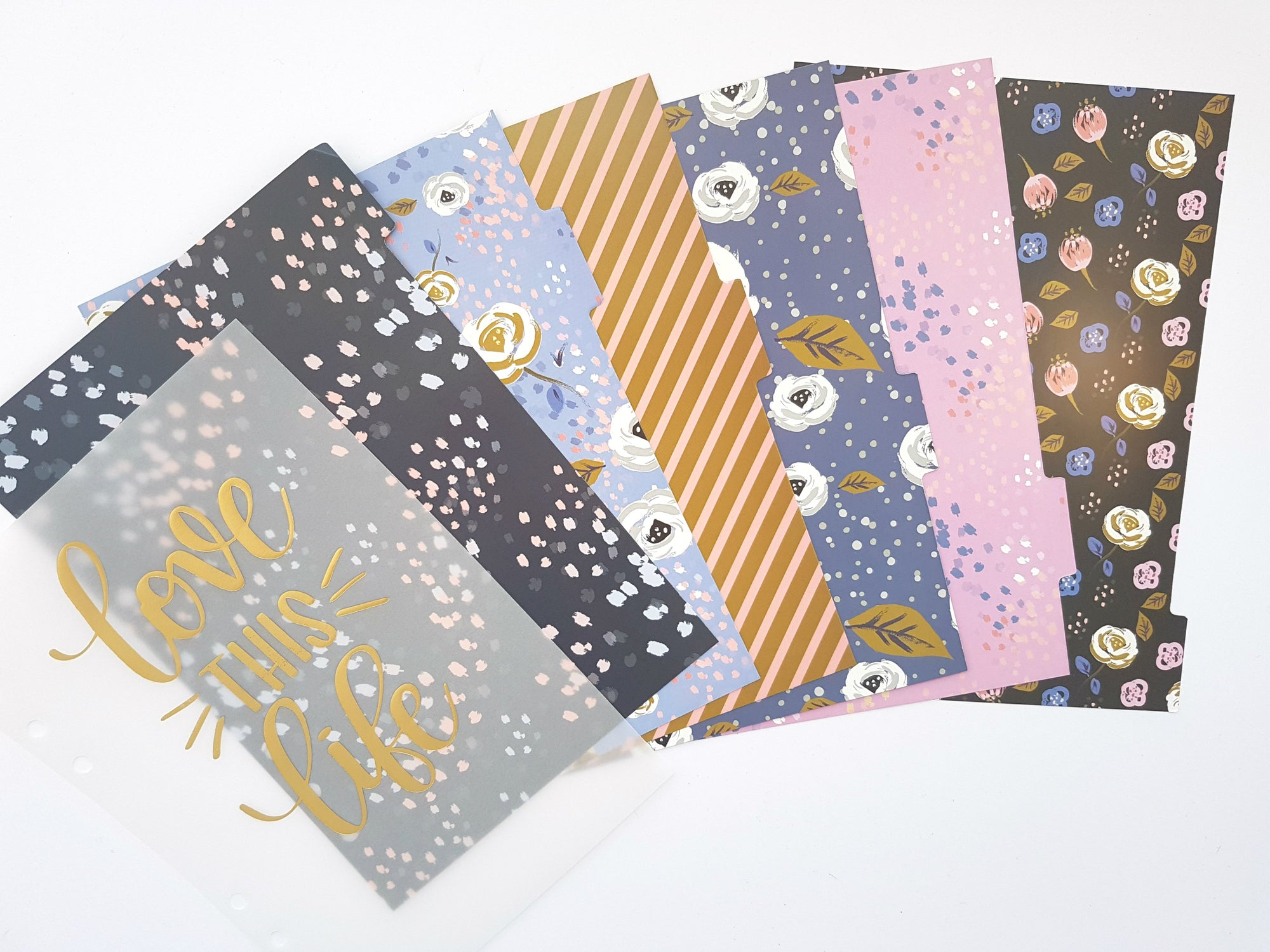 Dividers & Dashboard Set- Purple & Gold