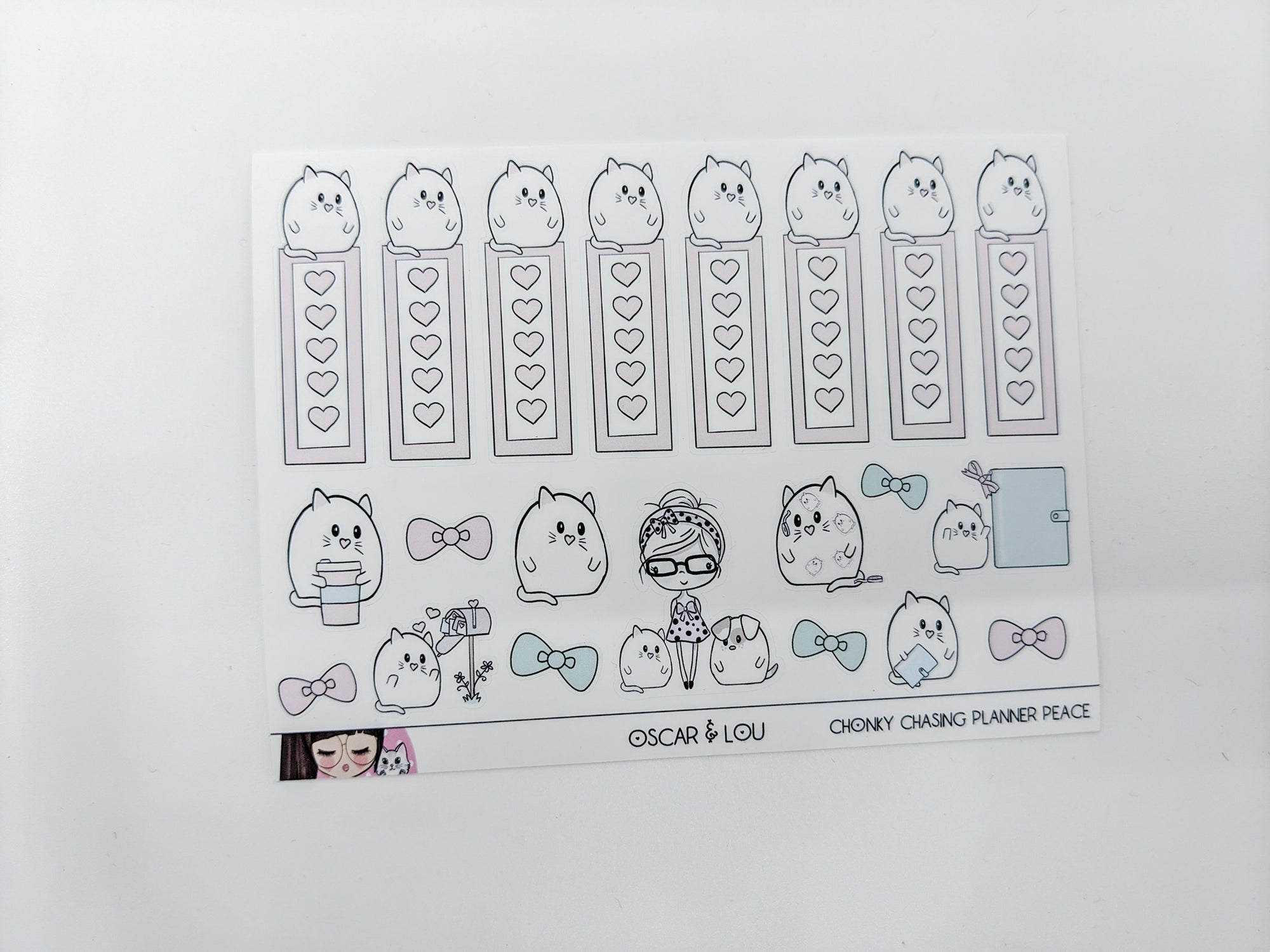 Chonky Cat Sticker Sheet (Oscar & Lou)