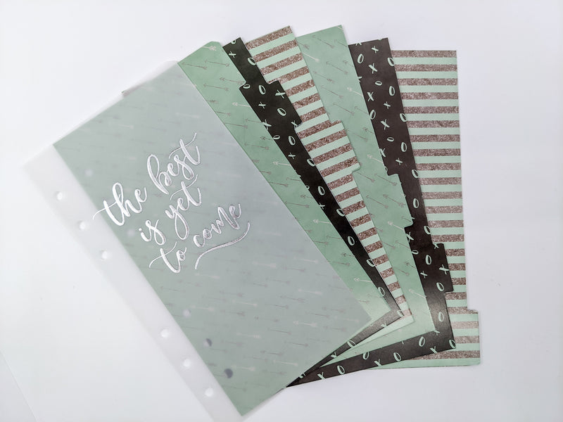 "*SALE* Personal Size Dividers & Dashboard Set- ""The Best is Yet to Come"""