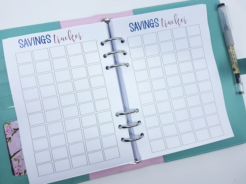 A5 Savings Tracker Blank | 10 double-sided sheets