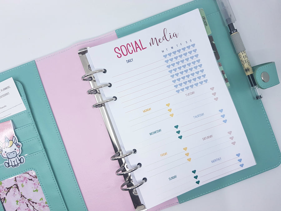 A5 Social Media planner inserts | 10 sheets