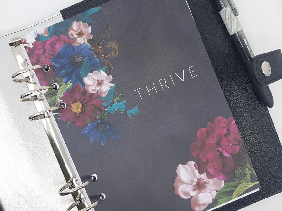 """Where I Am Planted I Will Thrive"" Planner Dashboard - A5, personal or pocket size"