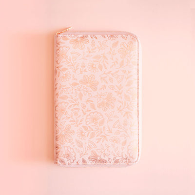 Rose Quartz Vegan Leather Travel Wallet