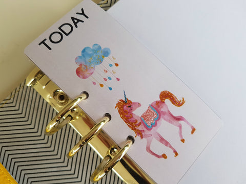 "Unicorn ""TODAY"" page marker for planners"