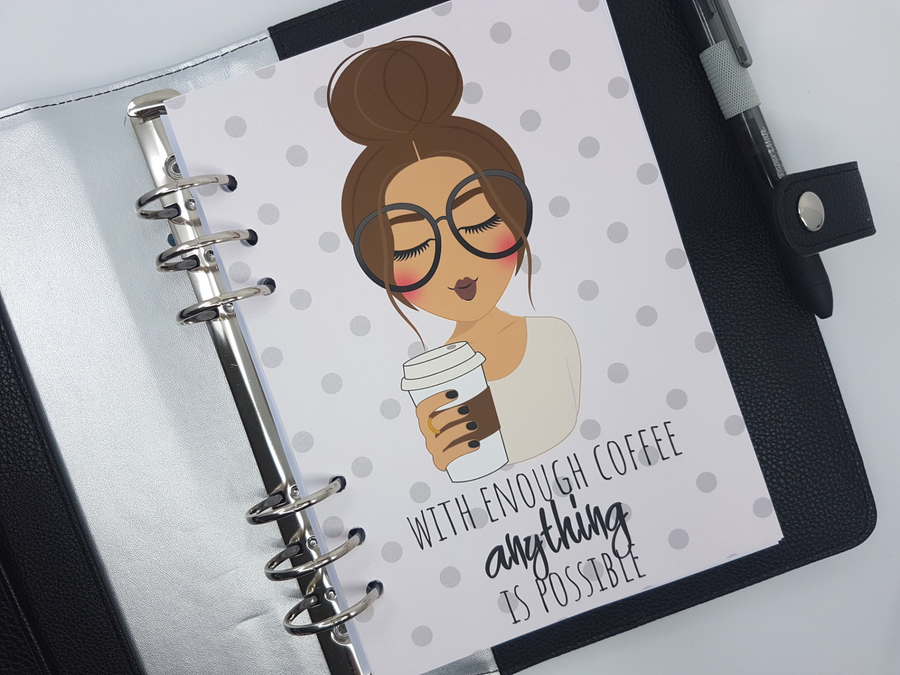 With Enough Coffee Planner Dashboard