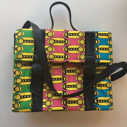 Multi Colored Ankara Box Bag