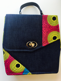 Denim x Ankara Box Bag