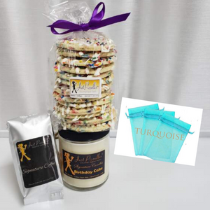 Bakers Dozen Pizzelles with Matching Candle and Coffee Gift Set