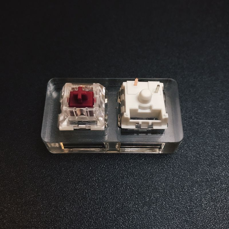 Kailh Pro Burgundy switches, image courtesy of Mehkee.com. These are an option I may move to, not to be confused with the Cherry MX Brown switches I'm using now.