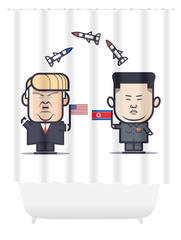 Trump vs. Kim Shower Curtain