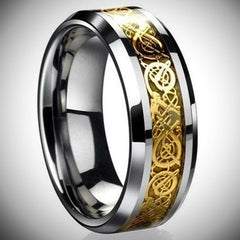 Dragon's Breath Steel Vikings Ring