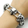 Image of Bikers Chain Link Skull Bracelet