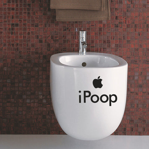 Funny iPoop Bathroom Decal