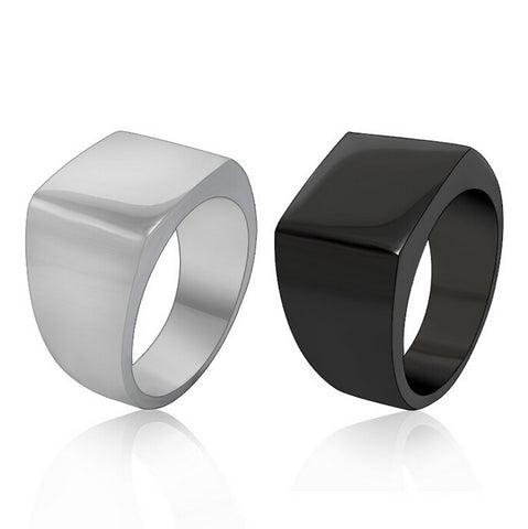 Never Fade Black or Silver Stainless Steel Rings