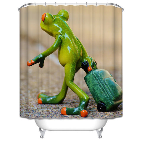 Frog on Holiday Shower Curtain