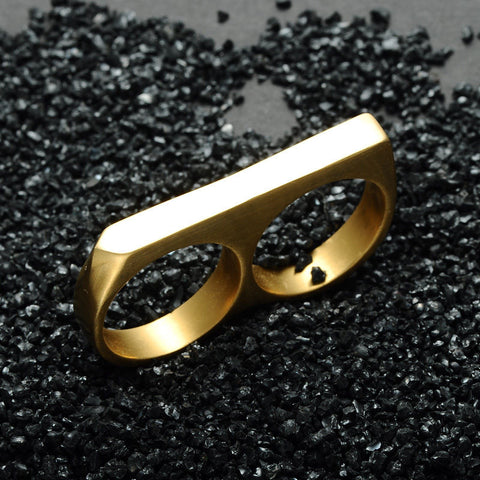 Two Finger Stainless Steel Rings