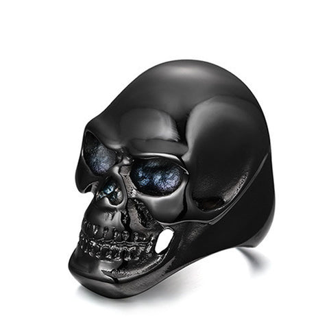 Mens Black Skull Rings
