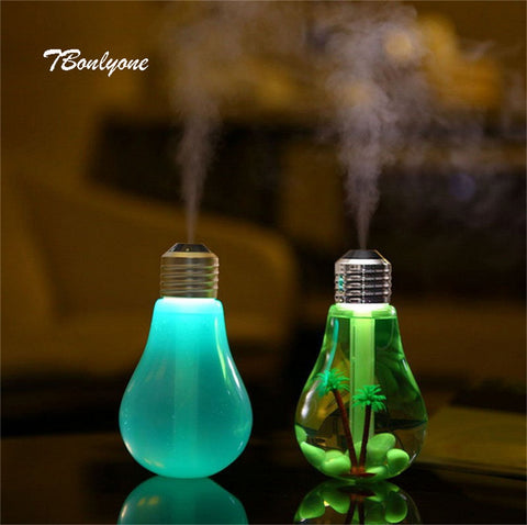 USB Bulb Aromatherapy Air Humidifier & Essential Oil Diffuser