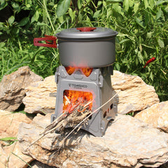 Portable Titanium Wood Stove