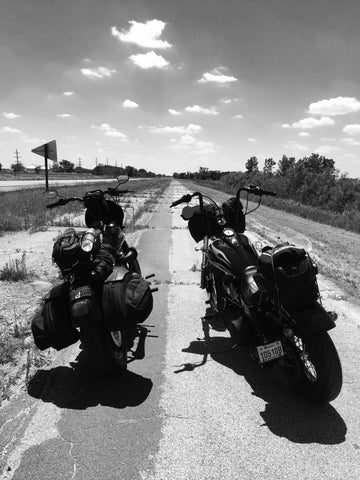 Father and son bike trip, Québec to California on Harley-Davidson