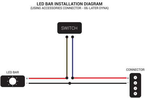 LED Bar connection diagram - 06-later Harley Davidson Dyna