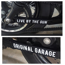 Original Garage Moto - OG Moto - Live By The Gun FXR & Sportster Swingarm Stickers