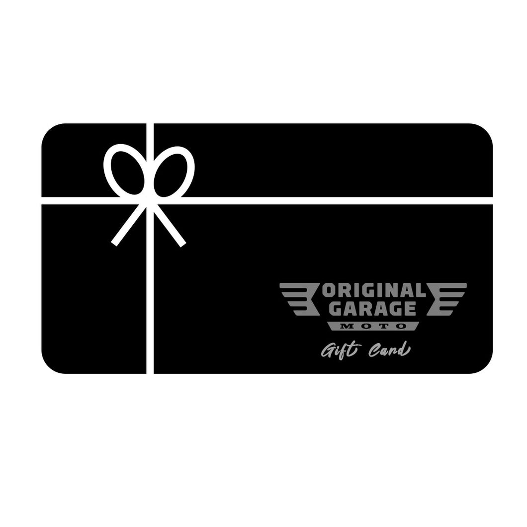Gift cards - Original Garage Moto