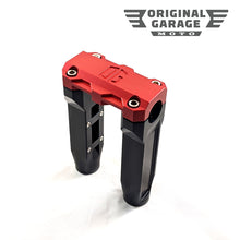 OG 6.5 Straight Risers - Red - Original Garage Moto