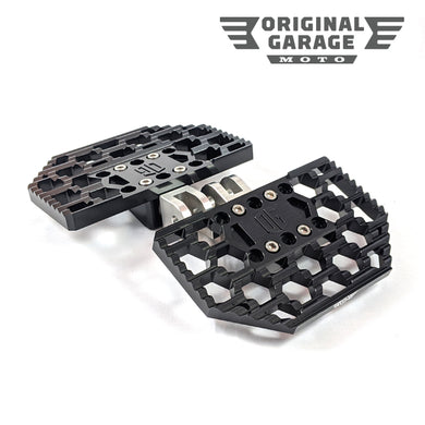 OG HoneyComp Mini Floorboards for Harley-Davidson - M8 Black - Original Garage Moto