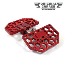 OG HoneyComp Mini Floorboards for Harley-Davidson - Red - Original Garage Moto