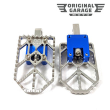 OG Moto X Foot Pegs for Harley-Davidson - Blue - Original Garage Moto