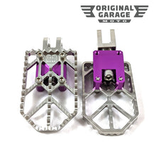OG Moto X Foot Pegs for Harley-Davidson - Purple - Original Garage Moto