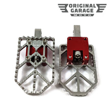 OG Moto X Foot Pegs for Harley-Davidson - Red - Original Garage Moto