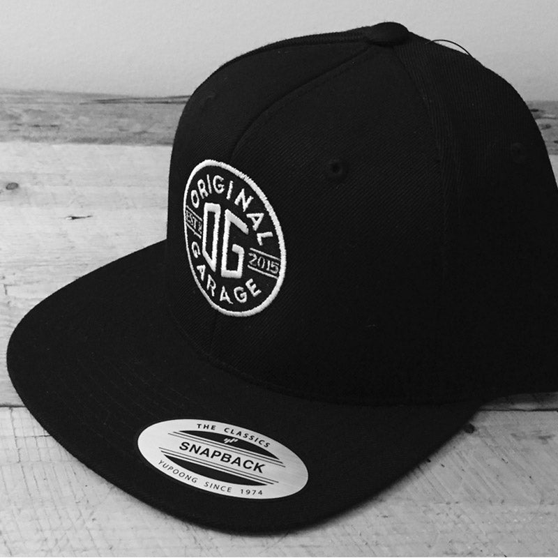OG Black Snapback - Original Garage Moto