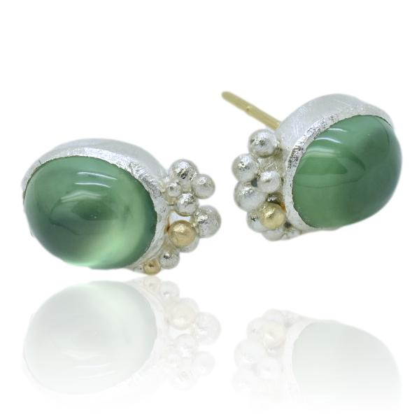 Summer Sea Salted Studs / Prehnite