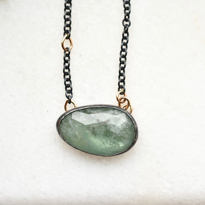 Sea Green Aquamarine Necklace