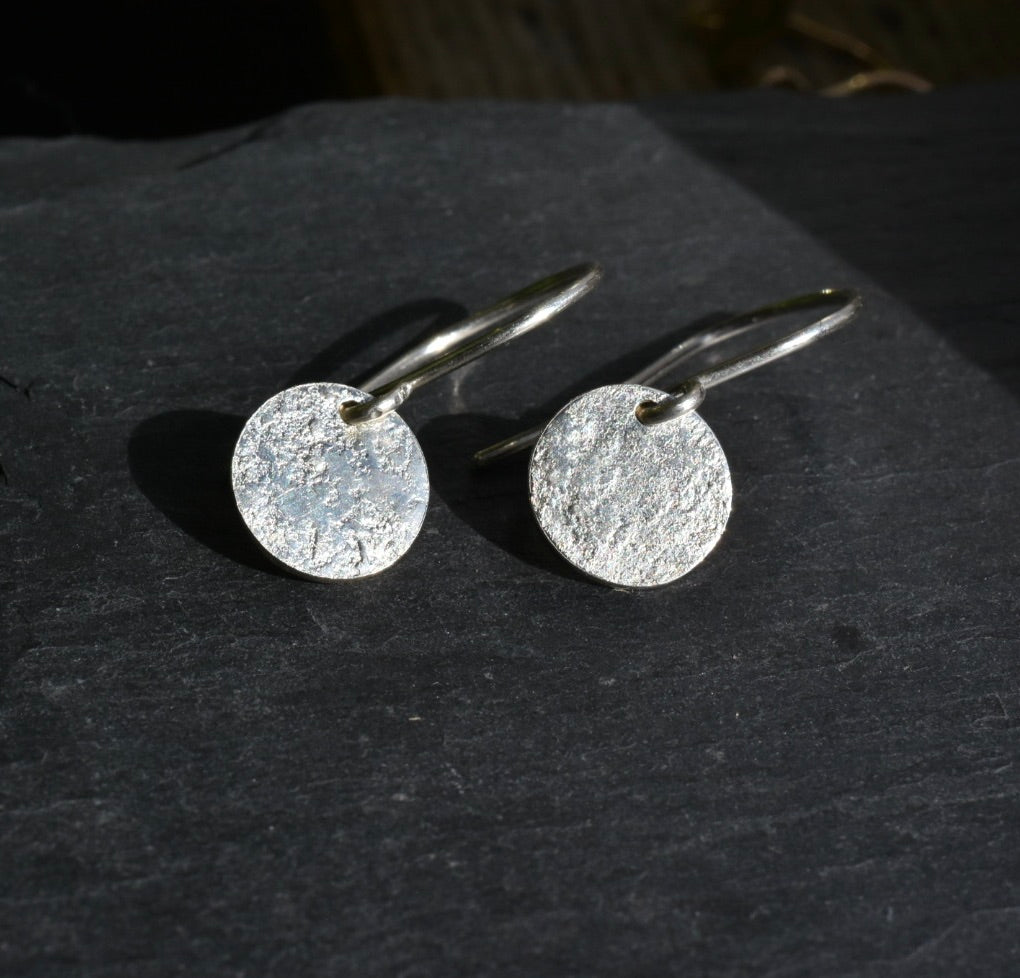 Sun Drop Earrings / Sterling Silver