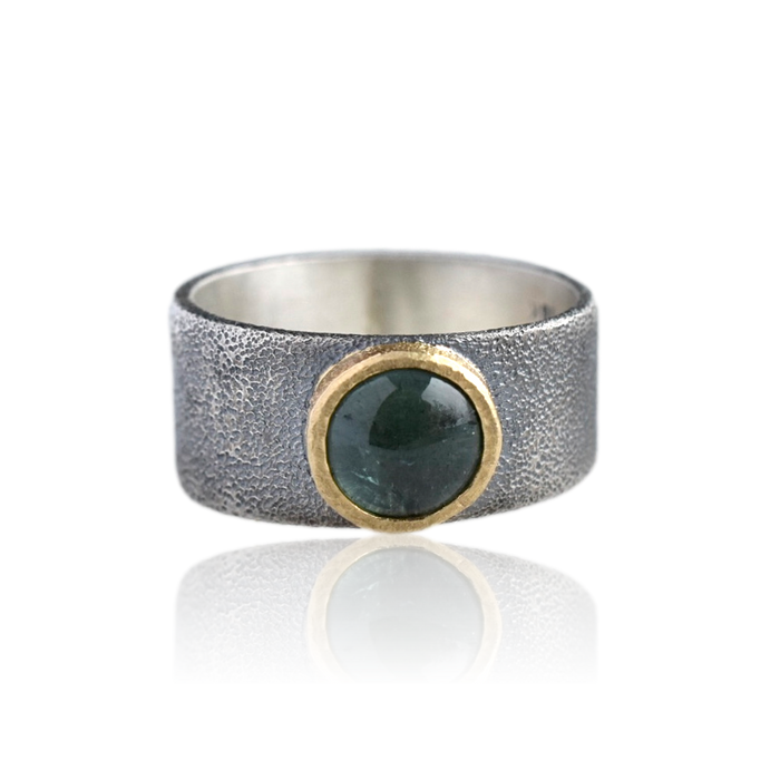 Sea Green Tourmaline Ring