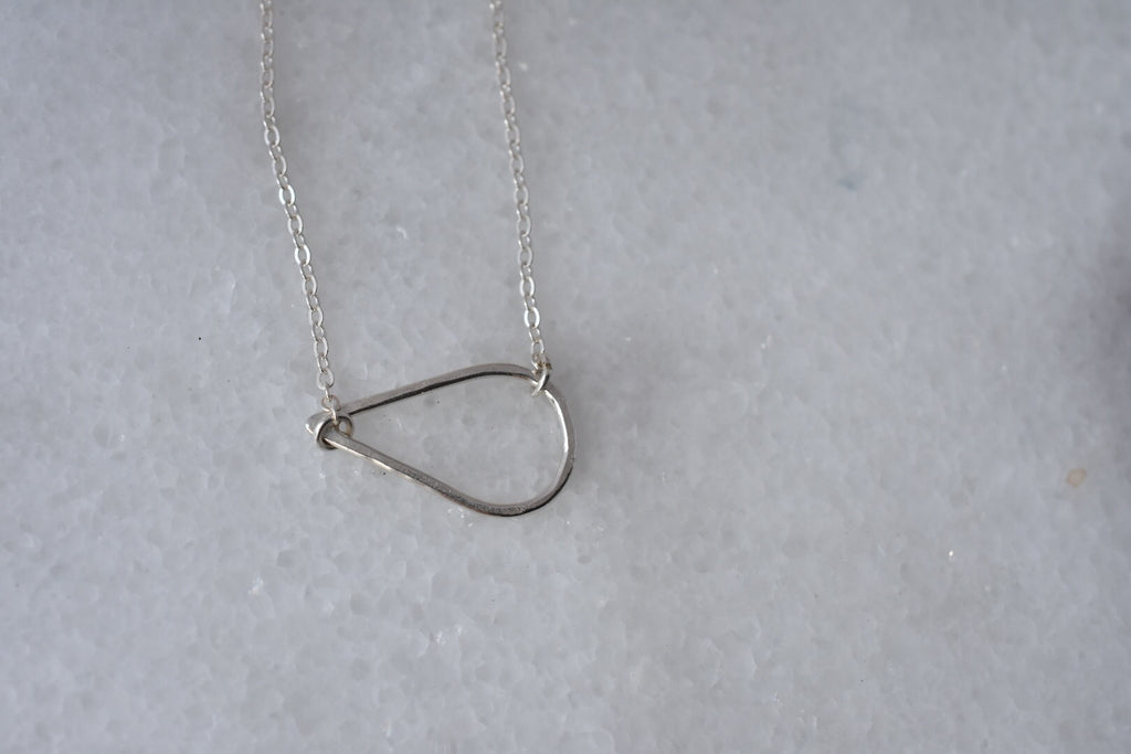 Single Drop Necklace / Sterling