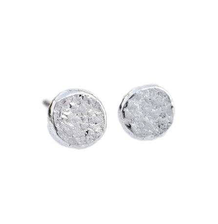 Pebble Studs / Silver
