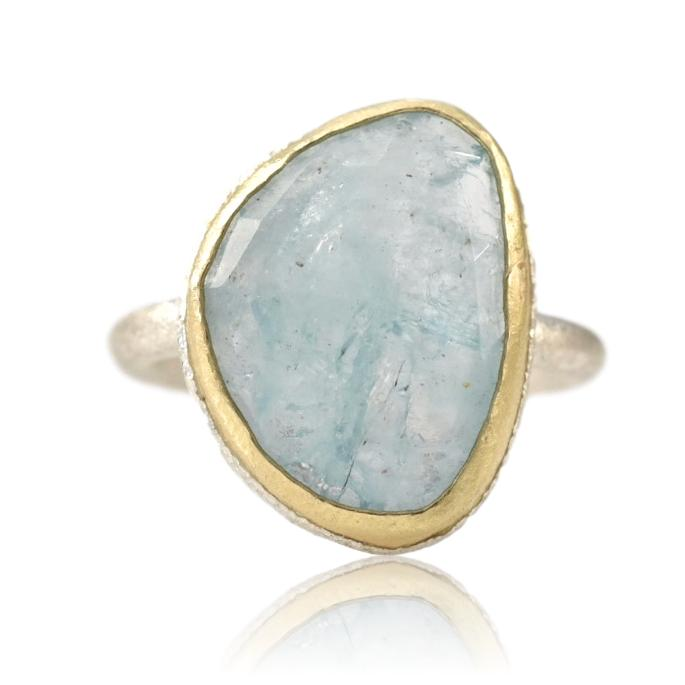 Winter Water Aquamarine Ring