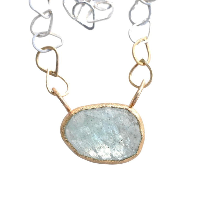 Aquamarine Winter Water Necklace